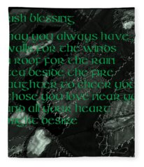 Irish Blessing Stitched In Time Fleece Blanket