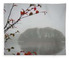 Irish Crannog In The Mist Fleece Blanket