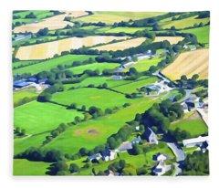 Irish Skyscape Fleece Blanket