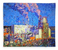 Irving Pulp Mill II Fleece Blanket