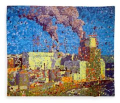 Irving Pulp Mill Fleece Blanket