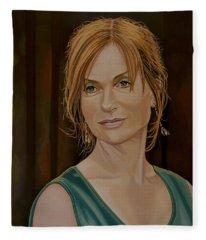 Isabelle Huppert Painting Fleece Blanket