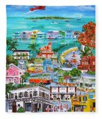 Island Daze Fleece Blanket