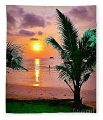 Island Glow Fleece Blanket