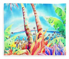 Island Of Music Fleece Blanket