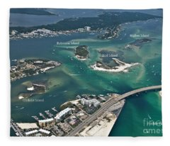 Islands Of Perdido - Labeled Fleece Blanket