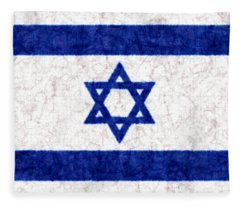 Israel Star Of David Flag Batik Fleece Blanket