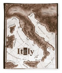 Italian Map Fleece Blanket