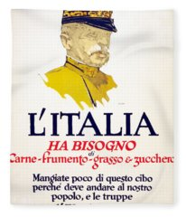 Italy Has Need Of Meat, Wheat, Fat Fleece Blanket