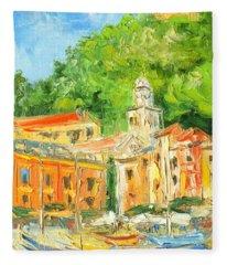 Italy - Portofino Fleece Blanket