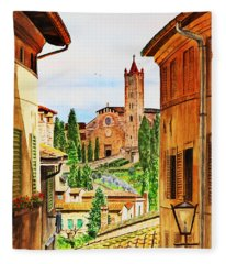 Italy Siena Fleece Blanket