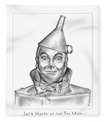 Jack Haley As The Tin Man Fleece Blanket