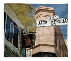 Jack Kerouac Alley And Vesuvio Pub Fleece Blanket