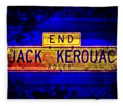 Jack Kerouac Alley Fleece Blanket