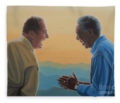 Jack Nicholson And Morgan Freeman Fleece Blanket