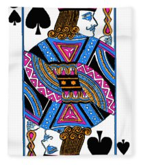 Jack Of Spades - V3 Fleece Blanket