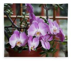 Jade And Orchid Fleece Blanket