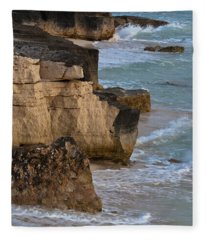 Jagged Shore Fleece Blanket
