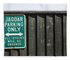 Jaguar Car Park Fleece Blanket