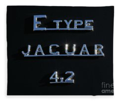 Jaguar E Type 4.2 Logo Fleece Blanket