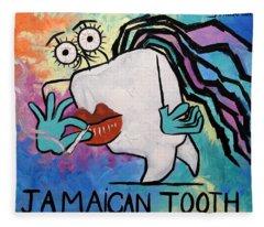 Jamaican Tooth Fleece Blanket