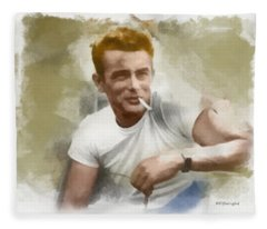 James Dean Fleece Blanket