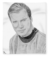 James Tiberius Kirk Fleece Blanket