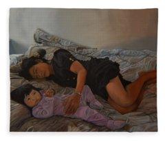 January Afternoon Mukilteo Washington Fleece Blanket