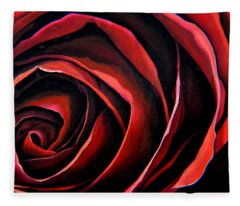 January Rose Fleece Blanket