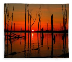January Sunrise Fleece Blanket