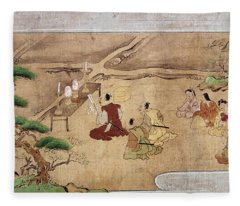 Japan Shinto Ritual Fleece Blanket