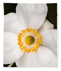 Japanese Anemone Fleece Blanket