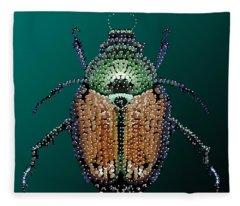 Japanese Beetle Bedazzled II Fleece Blanket