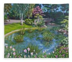Japanese Garden Fleece Blanket