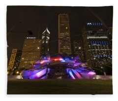 Jay Pritzker Pavilion Chicago Fleece Blanket