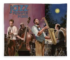 jazz festival in Paris Fleece Blanket