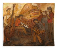 Jazz Quartet Fleece Blanket