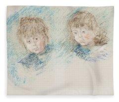 Jean-pierre Hoschede And Michel Monet Pastel Fleece Blanket