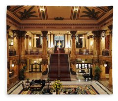 Jefferson Hotel Rotunda Fleece Blanket