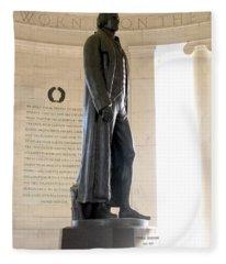 Jefferson Memorial In Washington Dc Fleece Blanket