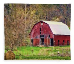 Jemerson Creek Barn Fleece Blanket