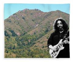 Jerry Garcia And Mount Tamalpais Fleece Blanket