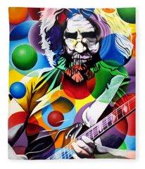 Jerry Garcia In Bubbles Fleece Blanket