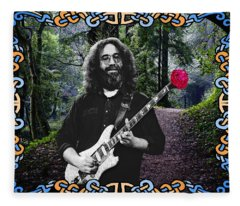 Jerry Road Rose 1 Fleece Blanket