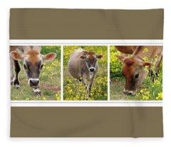 Jersey Fields Of Gold Fleece Blanket