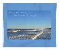 Jersey Girl Seaside Heights Quote Fleece Blanket
