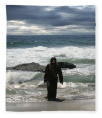 Jesus Christ- Look I Am Coming Soon Fleece Blanket