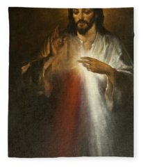 Jesus Of Divine Mercy Fleece Blanket