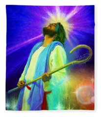 Jesus Rocks Fleece Blanket