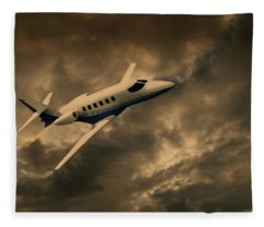 Jet Through The Clouds Fleece Blanket